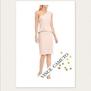 Vince Camuto One Shoulder Pink Cocktail Dress